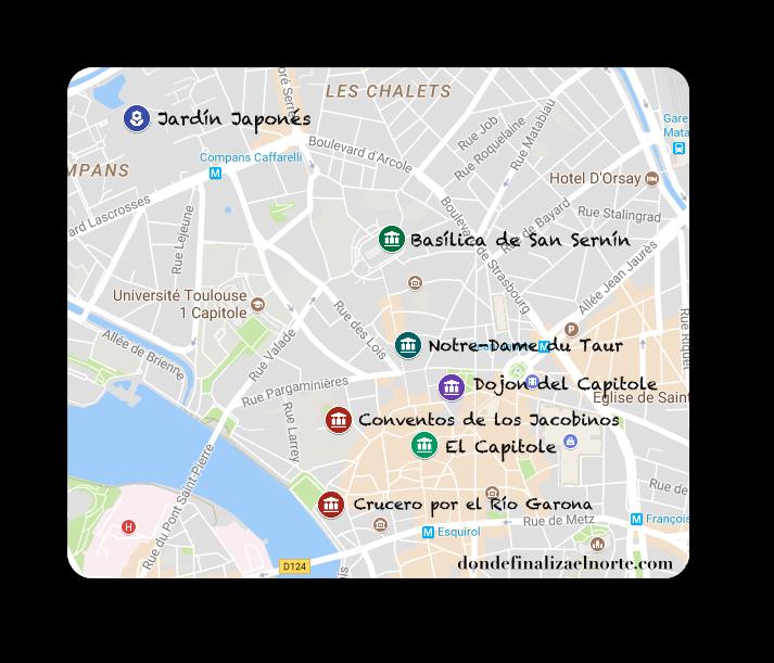 Mapa Toulouse DFN